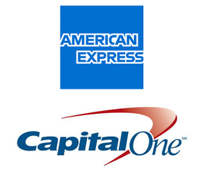 american express and capital one logos